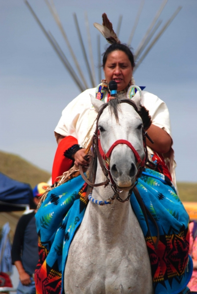 Water and land protector on horseback