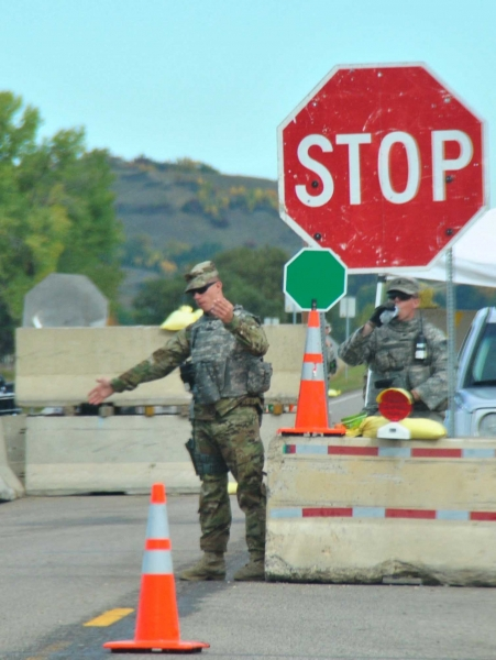 National Guard blocking Highway 1806