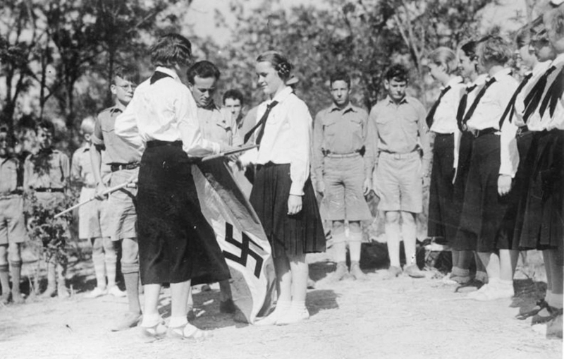 Hitler Youth and girls in Tientsin