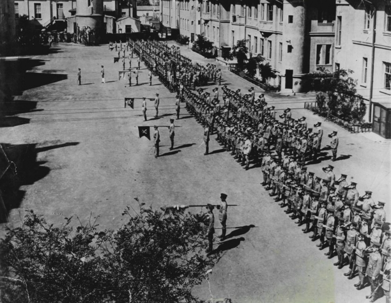 Tientsin US 15th Infantry on parade 1931
