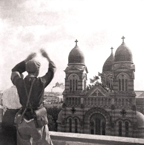 Xikai Church and protestor